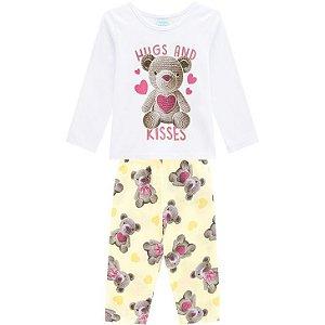 Kyly Pijama Inf Fem Ml 207.230 Cor Branco