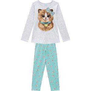 Kyly Pijama Infantil Feminino Manga Longa/Calça Malha  207.240