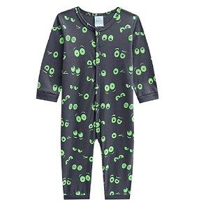 Kyly Pijama Infantil Manga Longa Masculino 207.248 Cor Cinza