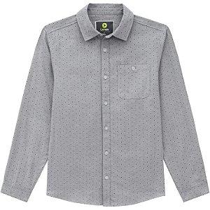 Lemon Camisa Infantil ML Masc 80.917 Cor Cinza