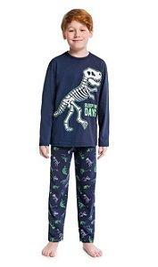 Kyly Pijama Inf Ml Masc 207.256 Cor Azul Marinho