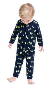 Kyly Pijama Inf Ml Masc 207.248 Cor Azul Marinho
