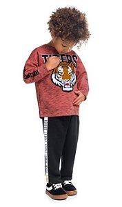 Kyly Conjunto Calca Infantil Masculino Manga Longa 207.202 Cor Vermelho