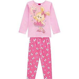 Kyly Pijama Infantil Feminino Manga Longa/Calça Malha 207.235