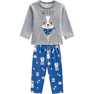 Kyly Pijama Inf Masc Ml 207.246 Cor Cinza