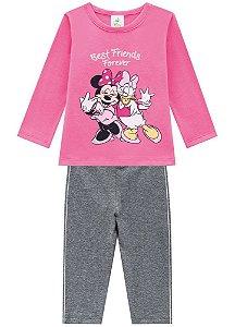 Brandili Conjunto Legging Longa Infantil Feminino 53750 Cor Rosa