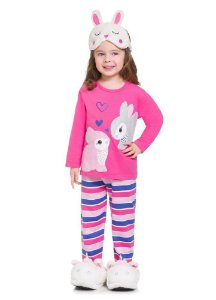 Brandili Pijama Feminino Manga Longa 53726 Cor Rosa