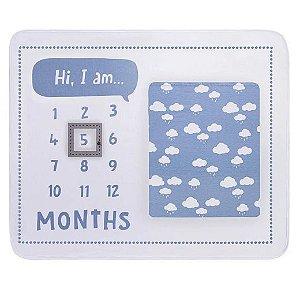 Colibri Kit Mês Versário Bebê Masculino 48294 Cor Azul