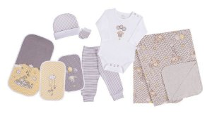Colibri Kit Presente Bebe 7 Peças 48609 Cor Amarelo