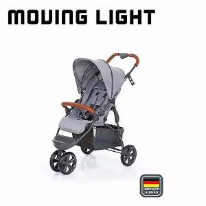 ABC Designer Carrinho De Bebe Moving Ligth 3115581 Cor Woven Grey (Cinza)