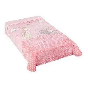 Colibri Cobertor Bebê 48553 Cor Rosa
