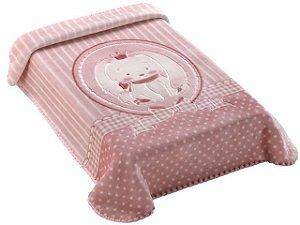 Colibri Cobertor Bebê 47658 Cor Rosa
