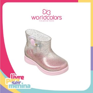 World Colors Galocha Plastico Inf Fem 060.025 Cor Rosa