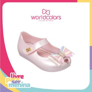 World Colors Sapatilha Infantil Feminina 067.036 Cor Rosa