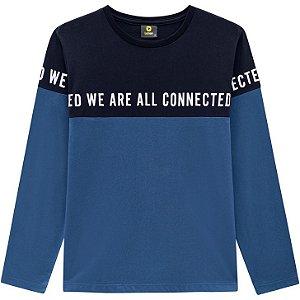 Lemon Camiseta Malha Masc Ml 80.907 Cor Azul