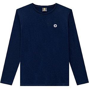 Lemon Camiseta Malha Masc Ml 80.900 Cor Azul Marinho