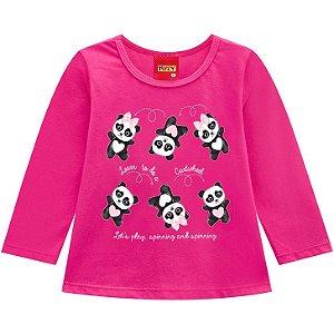 Kyly Blusa Inf Fem Ml 207.081 Cor Rosa Pink