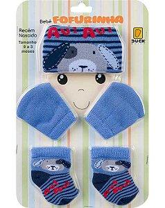 Duck Kit Touca/Luva/Meias 4045 Cor Azul Carbono