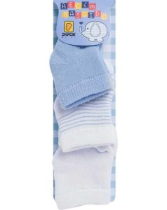 Duck Kit Meias Bebe 2598 Cor Azul
