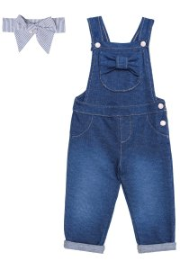 Infanti Jardineira Inf Fem 40294 Cor Azul Jeans
