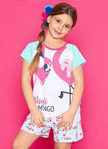 Puket Pijama Inf Femin 030401822 Cor Flamingo