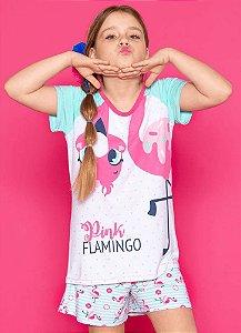 Puket Pijama Inf Femin 030501363 Cor Flamingo