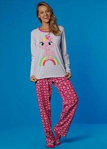 Puket Pijama Fem Ml 030601777 Cor Branco