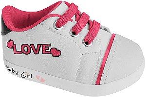 Pampili Tenis Bb Fem 108085 Cor Branco/Pink