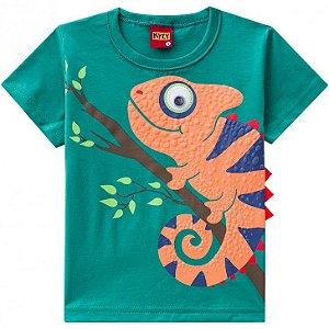 Kyly Camiseta Manga Curta Infantil Masculina 109.700 Cor Verde