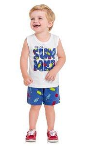 Kyly Conjunto Bermuda Infantil Masculino P109.706 Cor Branco