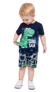 Kyly Conjunto Infantil Masculino 110280 Cor Azul Marinho