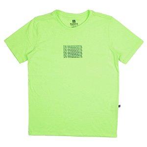 Banana Danger Camiseta Infantil Masculina Manga Curta  45315 Cor Verde Neon