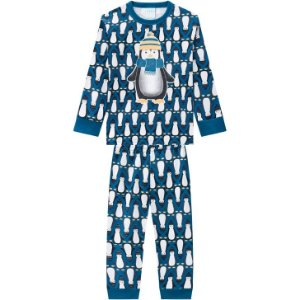 Kyly Pijama Infantil Masculino Manga Longa 207540 Cor Azul
