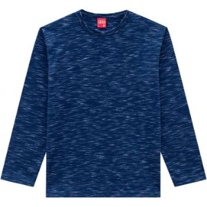 Kyly Camiseta Infantil Masculina Manga Longa 206296 Cor Azul Marinho