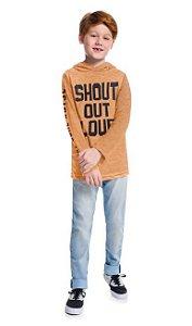 Kyly Camiseta Infantil Masculina Manga Longa 207480 Cor Mostarda
