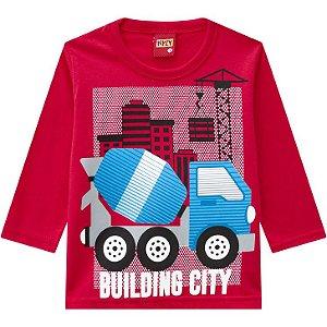 Kyly Camiseta Infantil Masculina Manga Longa 207426 Cor Vermelho