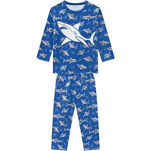 Kyly Pijama Infantil Masculino Manga Longa 207549 Cor Azul Bic