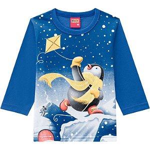 Kyly Camiseta Infantil Masculina Manga Longa 207425 Cor Azul