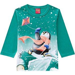 Kyly Camiseta Infantil Masculina Manga Longa 207425 Cor Verde