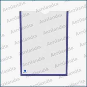 DISPLAY DE PAREDE - com borda azul