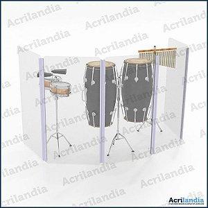 AQUÁRIO DE PERCUSSÃO 120 cm - 5 placas | ISOACUSTIC