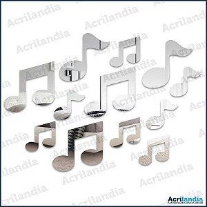 ESPELHO DECORATIVO NOTA MUSICAL - 12 peças