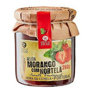 Geleia Morango com Hortelã 280g Quinta Jugais