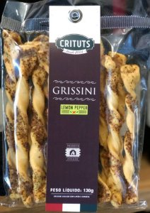 Grissini Artesanal Lemon Pepper 130g Crituts