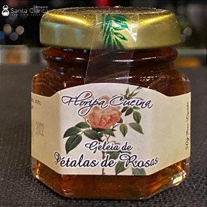 Mini Geleia Artesanal de Pétalas de Rosas 50g Floripa Cuccina
