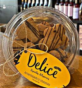 Biscoito Artesanal Amanteigado com Chocolate 130g Delicê