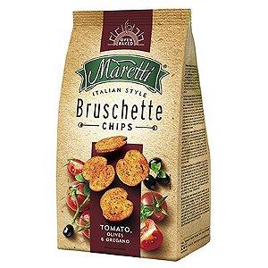Bruschetta Chips Maretti com tomate, azeitona e orégano 85g
