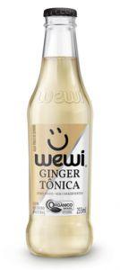 Água tônica orgânica Ginger Wewi 255ml