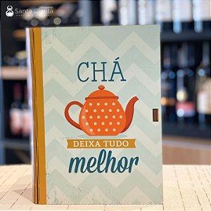 Caixa Livro Porta Chá 16,5x23 Ideias Ideias