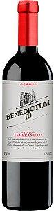 Vinho tinto Tempranillo Benedictum III